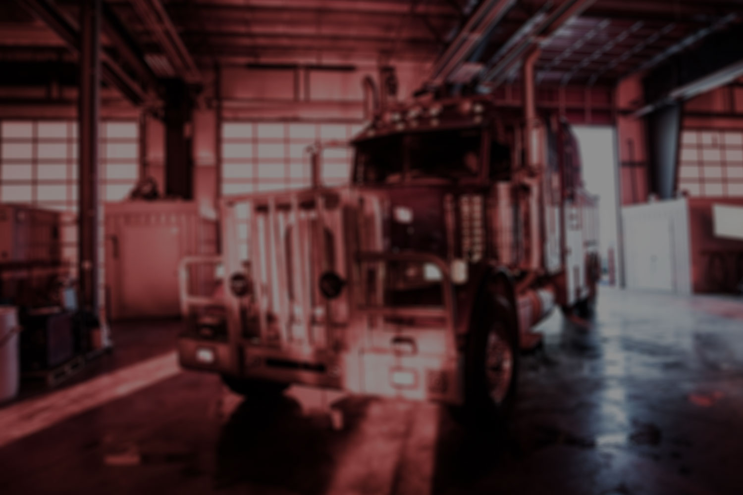 fire truck blur with black overlay